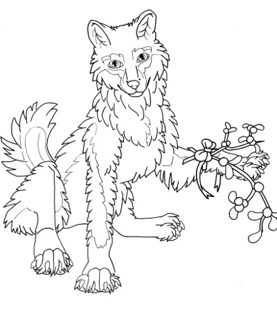 Smiling Wolf Coloring Page For Adults - Root Inspirations