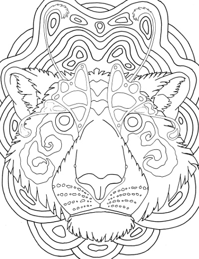 Tiger mandala coloring pages ~ Tiger Face Mandala Coloring Page for Adults - Root ...