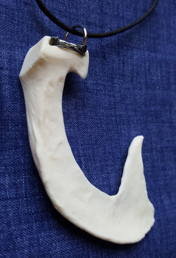 jaw bone fish hook necklace root inspirations